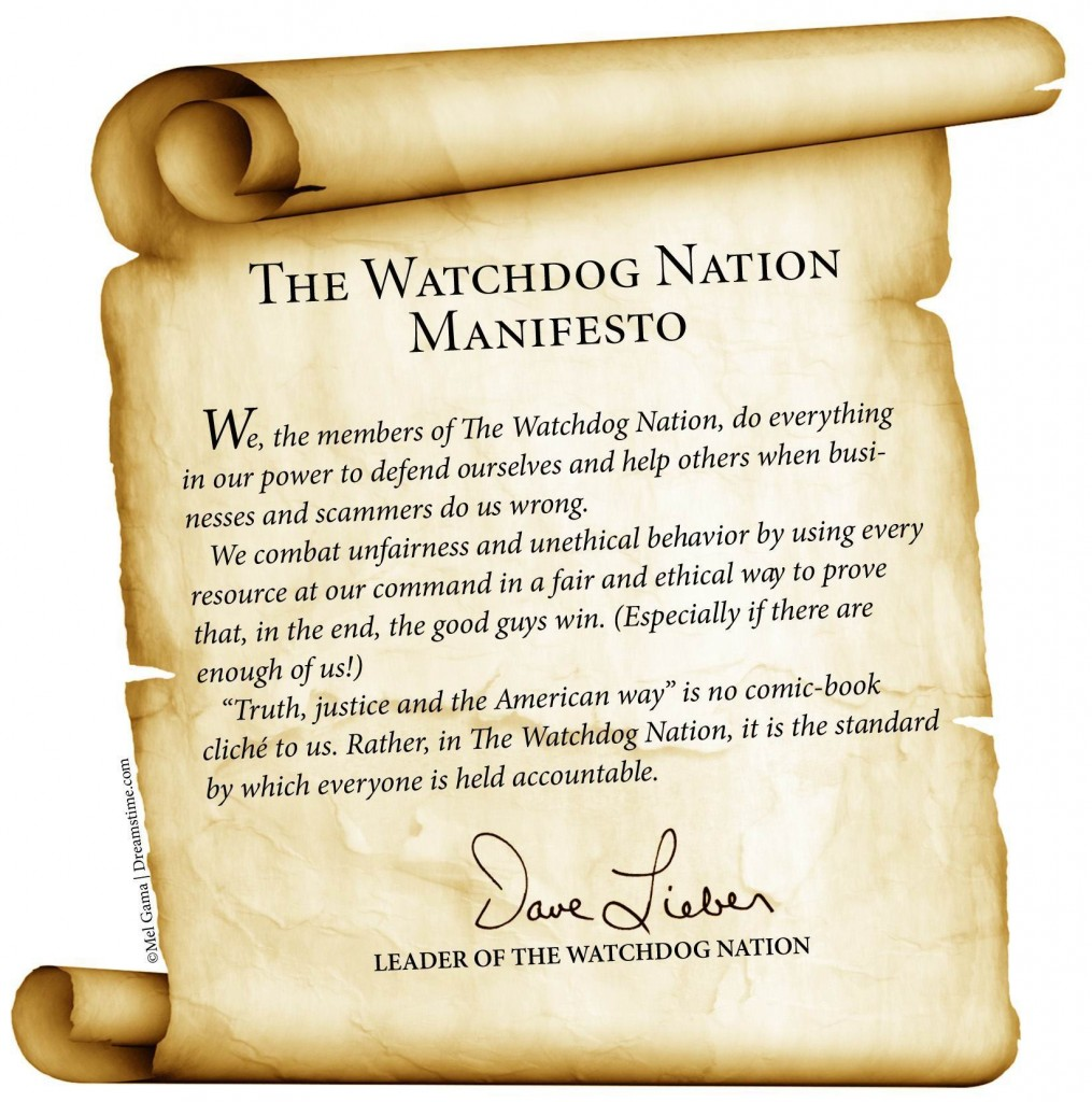 Dave Lieber's manifesto for WatchdogNation.com