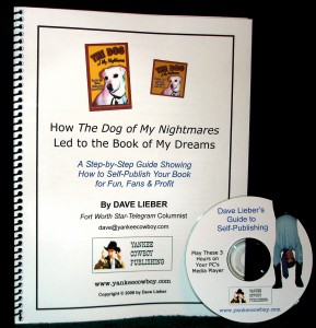 Dave Lieber's self-publishing guide shows authors how to do it yourselves, save money, make money and avoid getting scammed.