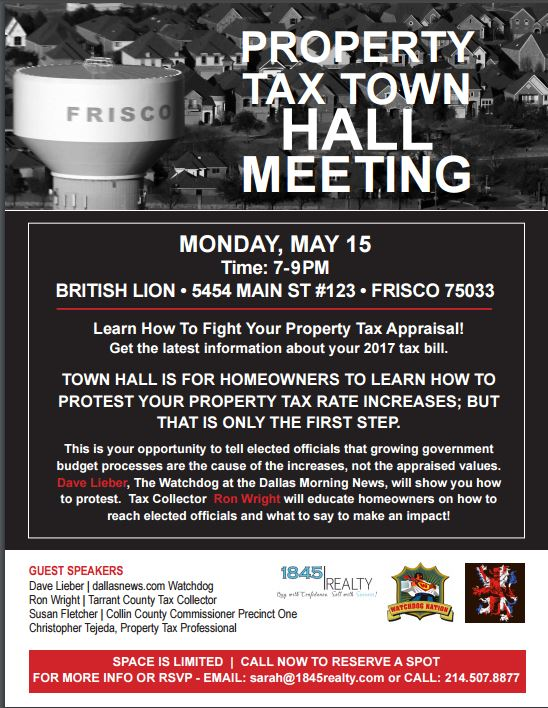 TOWN HALL Flyer Frisco